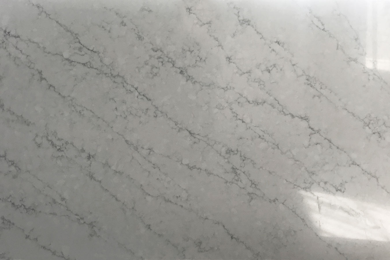 Carrara Wave Quartz slab