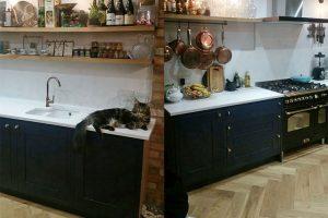 Quartz kitchen worktop