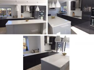 Kitchen in Bianco Ice 30mm