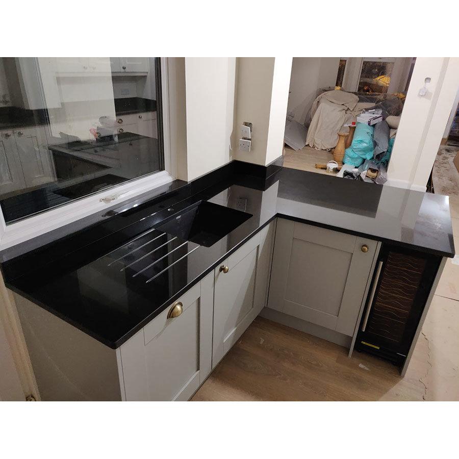 Jet Black Granite kitchen worktop